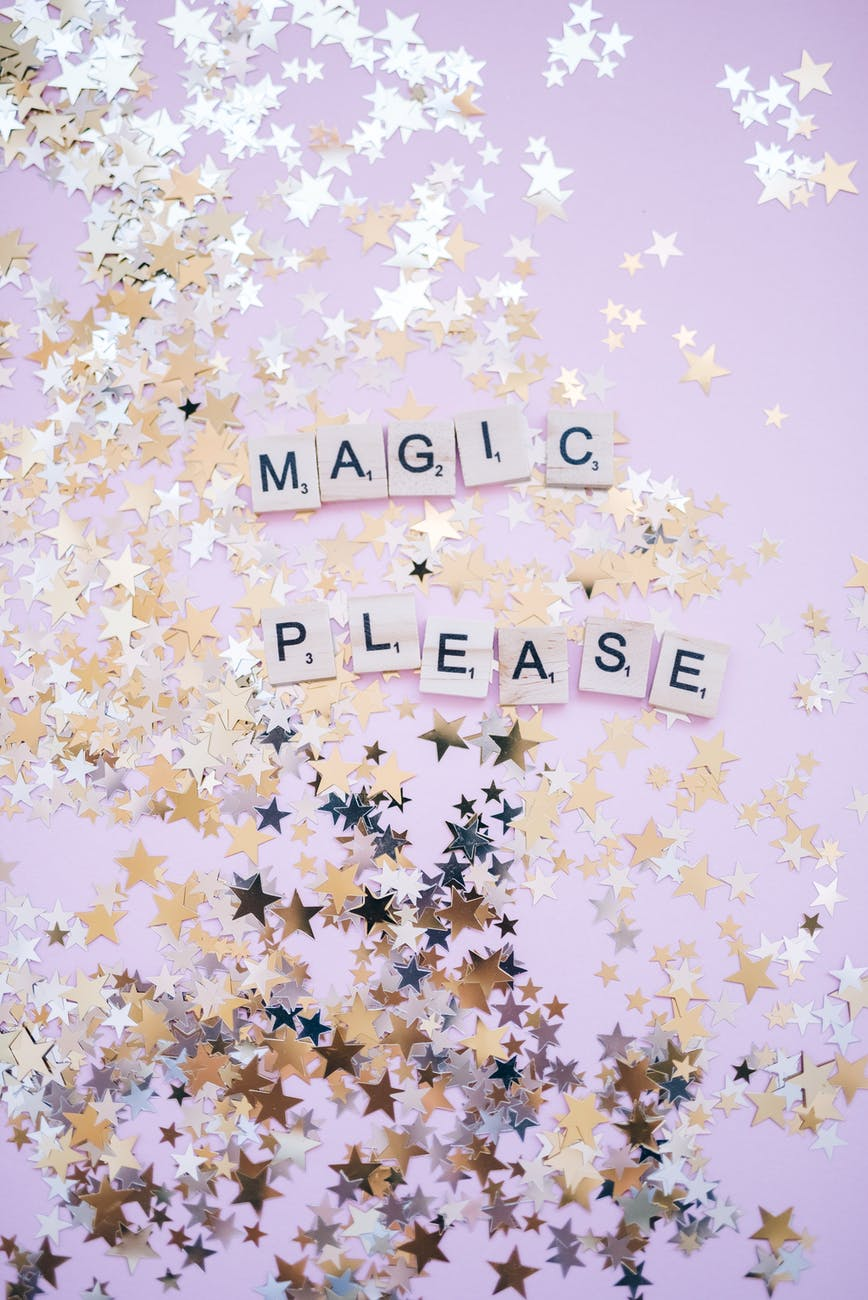 star glitters with magic text
